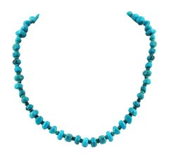Single Strand Kingman Turquoise Nugget Necklace