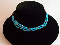 Heishi, Turquoise and Multi Stone Necklace
