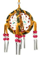 Double Dreamcatcher with Cones & Sweetgrass, Red