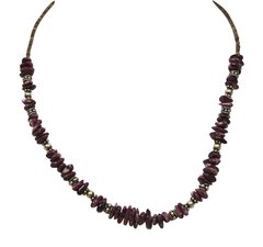 Purple Spiny Oyster Heishi Necklace