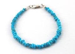 Strung Turquoise Nugget Bracelet