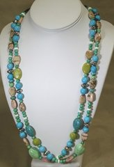 Double Strand Turquoise & Jasper Necklace