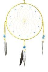 """12"""" Dreamcatcher w/ Stones & Beads, Turquoise"""
