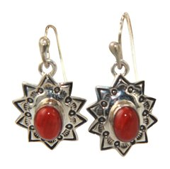 Starburst Red Spiny Oyster Earrings
