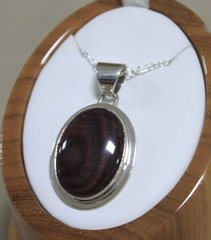 Purple Spiny Oyster Pendant Sterling Silver Necklace