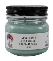 Spirit Earth Holistics 6oz. Eco Soy Plant Based Candle - Sweet Grass