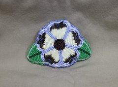 Quill & Bead Flower Barrette Light Blue