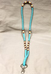 Peyote Stitch Cut Beaded Lanyard