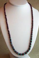 Purple Spiny Oyster Stone Necklace