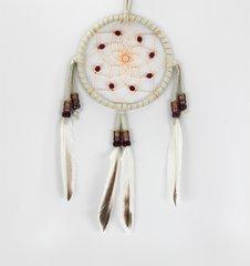 "4"" Dreamcatcher w/ Stones & Beads, brown"