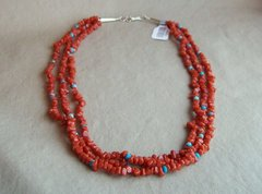 Coral 3 Strand Necklace