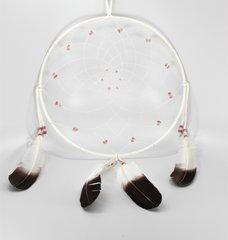 "14"" Dreamcatcher w/ Stones & Beads, white"