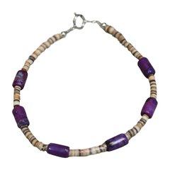 Purple Turquoise & Shell Bracelet