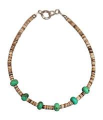 Mohave Turquoise & Shell Bracelet
