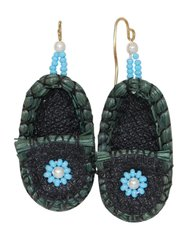 Sweetgrass Moccasin Earrings