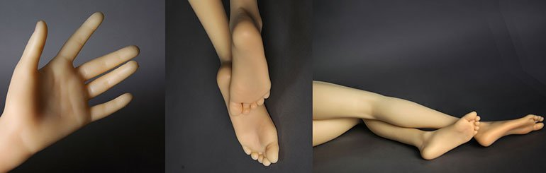 Sex Doll hands and feet Close Up. Cloud Climax sell DS Dolls and EX Doll in the UK & EU