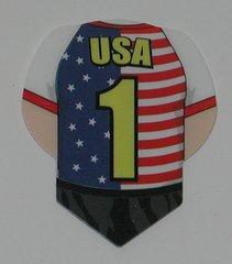 3 Sets (9 flights) US, USA, AMERICA Sport Dart Flights - SPUS