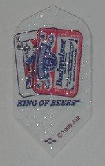 """2 Set (6 flights) Budwesier """"King of Beers"""" Slim Embossed Dart Flights"""