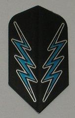 3 Sets (9 flights) Ameithon BLUE/BLACK LIGHTNING BOLT Slim Dart Flights - M030x