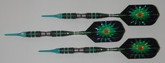 DYNAMITE 16 gram Soft Tip Darts - Scalloped Grip 80% Tungsten - Convertible - Steel/Soft Tip Darts DY10