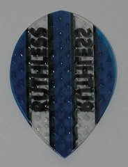 3 Sets (9 flights) Ruthless Embossed (Dimplex Style) Pear BLUE Flights - 4333