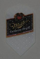 2 Set (6 flights) Miller Genuine Draft Slim Ebbossed Dart Flights