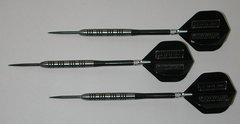 POWERGLIDE 21 gram Steel Tip Darts - 80% Tungsten, Ringed Grip -Style 7