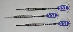 XXL 32 gram Steel Tip Darts - 80% Tungsten, Extra Heavy Darts - Add Extra Ummmmph to your game