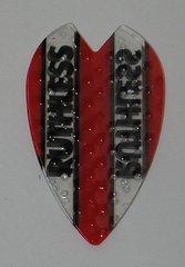 3 Sets (9 flights) Ruthless RED Embossed Mini Vortex Dart Flights - 4392