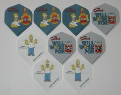 3 Set (9 flights) Different Simpsons Bart Homer Duff Standard Dart Flights - Simp08