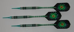 DYNAMITE 16 gram Soft Tip Darts - Contoured Grip 80% Tungsten - Convertible - Steel/Soft Tip Darts DY3