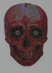 3 Sets (9 flights) BLACK Skull Shape Holographic Flights - 6951