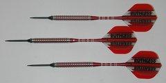 P4 RedLine 21 gram Steel Tip Darts - 80% Tungsten, Ringed Grip - Style 5