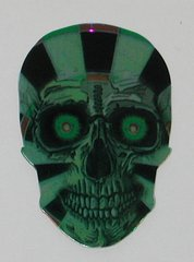 3 Sets (9 flights) DARTBOARD Skull Shape Holographic Flights - 6956