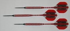 P4 RedLine 21 gram Steel Tip Darts - 80% Tungsten, Aggressive Grip - Style 3