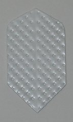 3 Sets (9 flights) Ameithon WHITE EMBOSSED Slim Dart Flights - M036x