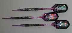 DYNAMITE 18 gram Soft Tip Darts - Contoured Grip 80% Tungsten - Convertible - Steel/Soft Tip Darts DY1