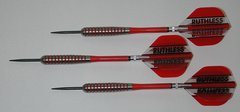 POWERGLIDE 26 gram Steel Tip Darts - 80% Tungsten, Ringed Grip -Style 10
