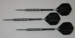POWERGLIDE 27 gram Steel Tip Darts - 80% Tungsten, Ringed Grip -Style 7