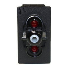 CONTURA V SWITCH, RED/RED LEDS, LOWER LED INDEPENDENT