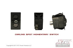 Momentary Switch, SPST (ON) - OFF, No Rocker/Actuator