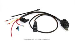 Plug & Play High Power Light Bar or Accessory Wire Harness with Sealed Fuse and Relay and Two LED Switch - Model PCS-1