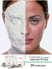 CASMARA masks 10 GREEN TEA ANTI-STRESS REVITALISING - 2050 luxury peel off facial masks