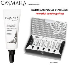 CASMARA 5 STABILIZER facial Ampoules SOOTHING reduce REDNESS-enhance peel off mask results