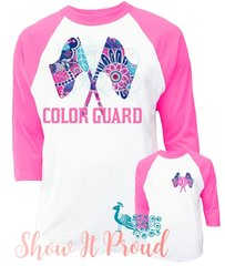 Monogrammed Color Guard Raglan