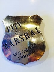 City Marshal Colorado Springs Badge - Hand Cast