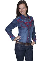 Legends Patriot Floral Blouse