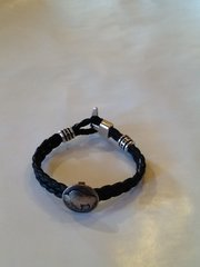 Black Leather Tatanka Bracelet