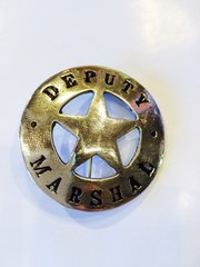 Deputy Marshal Round Cut Out Star Badge - Hand Cast