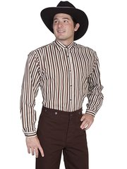 WahMaker Brown Striped Shirt